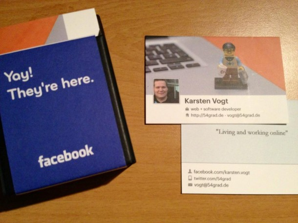 Kostenlose Facebook Visitenkarten Mit Timeline Bild